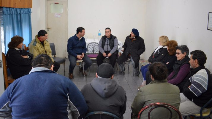Trezza se reunió con jubilados en Barrio Nocito