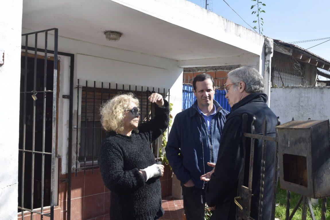 Trezza y Solá charlaron con vecinos en Arroyo del Rey