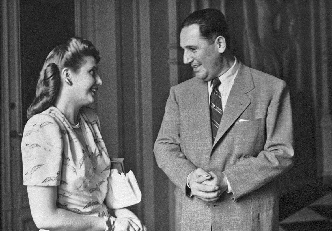 El día que se conocieron Perón y Evita.